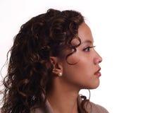 Profil-Portrait der jungen hispanischen Frau Stockfotografie