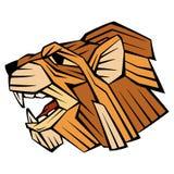 Profil principal de style de vecteur de visage de lion Photographie stock libre de droits