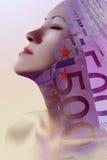 Profil riche rêveur Images libres de droits