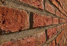 Profil rouge de côté de mur de briques Photographie stock libre de droits
