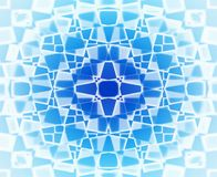 Profil sous convention astérisque bleu et blanc Photographie stock libre de droits