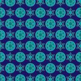 Profil sous convention astérisque juif de bleu de turquoise illustration de vecteur