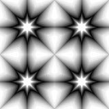 Profil sous convention astérisque monochrome sans couture rougeoyant de l'obscurité pour allumer des tons Effet visuel de volume  Images libres de droits