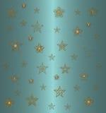 Profil sous convention astérisque sur le bleu Image stock