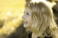 profil uśmiecha się Obrazy Stock