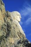 Profil von George Washington, der Mount Rushmore Nationaldenkmal nahe schneller Stadt, South Dakota Lizenzfreie Stockfotos