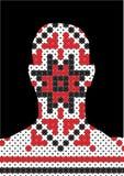 Profilbild - Pixel traditionell - Hauptschattenbild Lizenzfreie Stockbilder