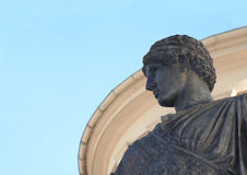 Profile. Statue on background of museum building in Bonn / Germany stock image
