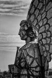 Profile of an angel statue in Montreal Stock Image