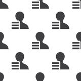 Profile application, vector seamless pattern Royalty Free Stock Photography