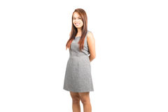 Profile Approachable Genuine Asian Girl Smiling Royalty Free Stock Photos