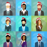 Profile Avatar Set Icon Businesspeople New Year Royalty Free Stock Photos