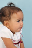 Profile of a baby. A profile of a beautiful baby girl Stock Photography