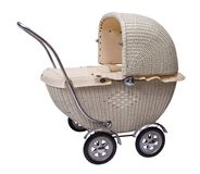 Profile of baby carriage stock image