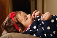 Profile of a baby girl Royalty Free Stock Photography