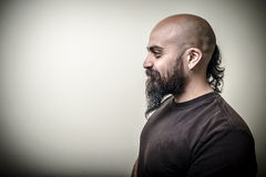 Profile bearded man Royalty Free Stock Photography