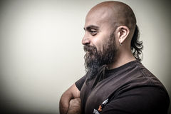 Profile bearded man Stock Image