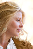 Profile of a beautiful blonde woman Stock Photos
