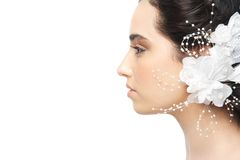 Profile of a Beautiful Bride Royalty Free Stock Image