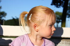 Profile of beautiful little girl Royalty Free Stock Photo