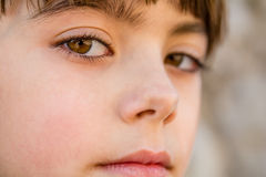 Profile of a beautiful little girl Royalty Free Stock Photography