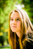Profile of a beautiful teenager Royalty Free Stock Photo