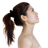 Profile of beautiful woman Stock Images