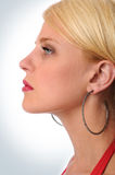 Profile of Beautiful Woman Stock Photos