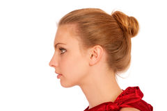Profile of beautiful young woman Royalty Free Stock Images