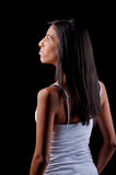 Profile of a beautiful young woman Stock Image