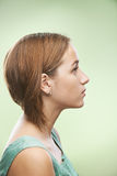 Profile of beautiful young woman Stock Images