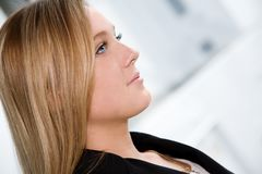 Profile of a blonde royalty free stock photography