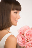 Profile of the bride Royalty Free Stock Images