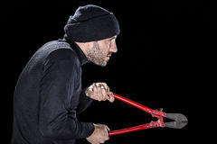 Profile of a burglar Royalty Free Stock Photo