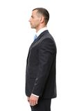 Profile of business man stock images