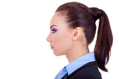 Profile of a business woman stock photography