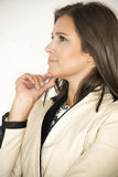 Profile of a business woman thinking Royalty Free Stock Photo