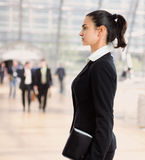 Profile of businesswoman Royalty Free Stock Image
