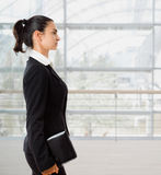 Profile of businesswoman Stock Photo