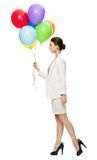 Profile of businesswoman with balloons Royalty Free Stock Photography