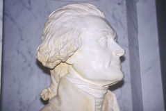 Profile bust of Thomas Jefferson in Library of Congress Washington D.C. Stock Image