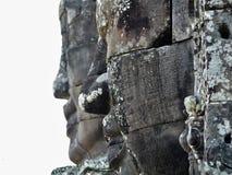 Profile of cambodian empire stock image