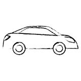 Profile car city scene image design Stock Images