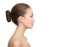 Profile charming woman Stock Photo