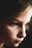 Profile of a child Royalty Free Stock Image