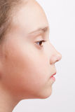 Profile of a child with open eye Royalty Free Stock Photo