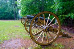 Profile of Civil War Cannon Stock Photography
