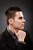 Profile closeup of young businessman Royalty Free Stock Photos