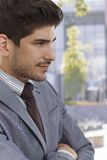 Profile of confident young businessman Stock Image