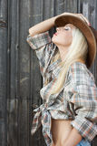 Profile cow-girl Royalty Free Stock Photos